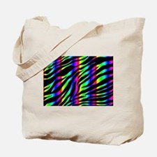 rainbow zebra Tote Bag