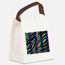 rainbow zebra Canvas Lunch Bag