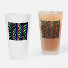 rainbow zebra Drinking Glass