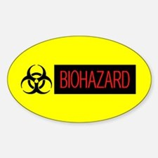 HAZMAT: Biohazard (Red, Black & Yel Sticker (Oval)