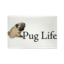 Puppy Pug Life Rectangle Magnet