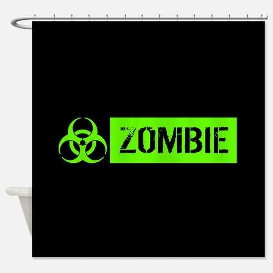 Zombie: Biohazard (Slime Green) Shower Curtain