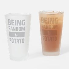 Cool Potatoes Drinking Glass