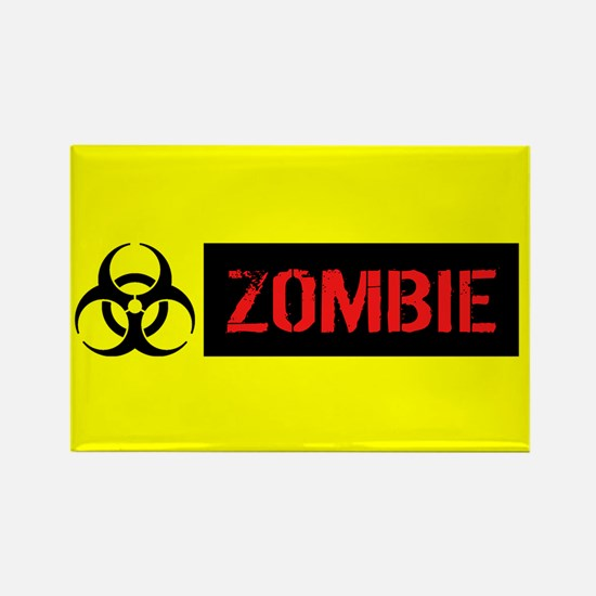 Zombie: Biohazard (Red, Black & Y Rectangle Magnet