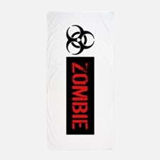 Zombie: Biohazard (Red, White & Black) Beach Towel