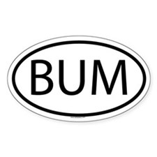 BUM Oval Decal