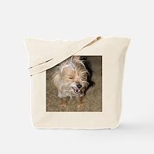 Cute Yorkshire terrier tea cup Tote Bag