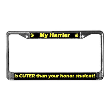 Honor Student Harrier License Plate Frame