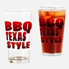 Funny Texas bbq Drinking Glass