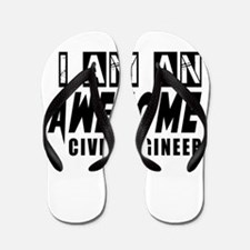 I Am Civil engineer Flip Flops