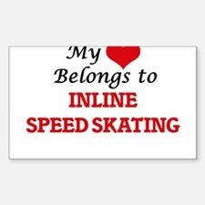 My heart belongs to Inline Speed Skating Decal