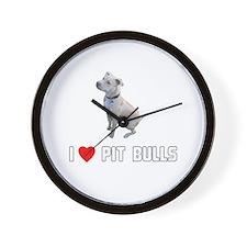 I Love Pit Bulls Wall Clock
