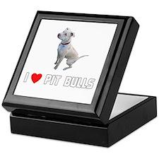 I Love Pit Bulls Keepsake Box