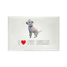 I Love Pit Bulls Rectangle Magnet