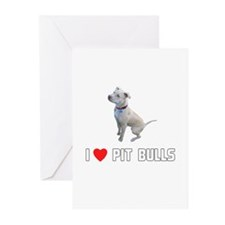 I Love Pit Bulls Greeting Cards (Pk of 10)