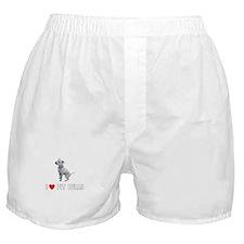 I Love Pit Bulls Boxer Shorts