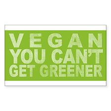 Vegan - Can't get greener Rectangle Decal