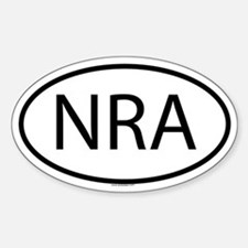 NRA Oval Decal