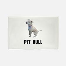 Pit Bull Rectangle Magnet (100 pack)