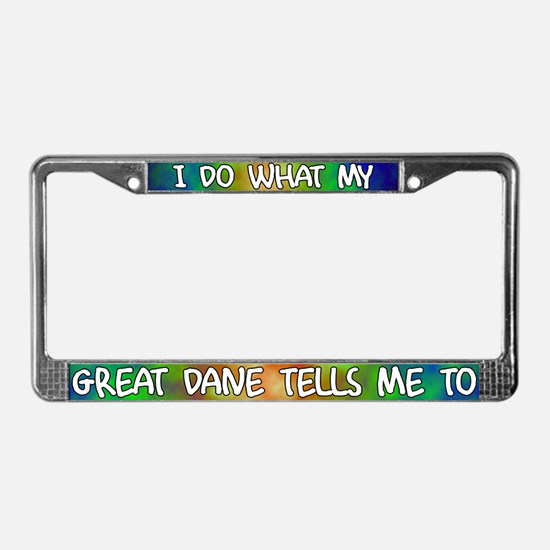 Do what Great Dane License Plate Frame