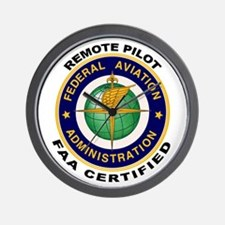 FAA Certified Remote Pilot Wall Clock