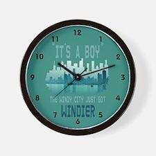 Windy City funny humorous Wall Clock