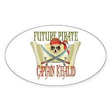 Captain Khalid Oval Decal