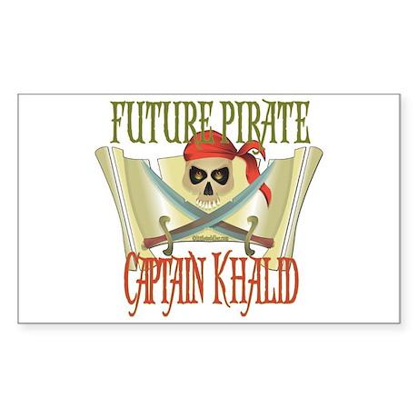 Captain Khalid Rectangle Sticker