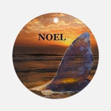 NOEL WHALE Ornament (Round)
