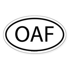 OAF Oval Decal