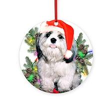 Shih Tzu 'Tis Ornament (Round)