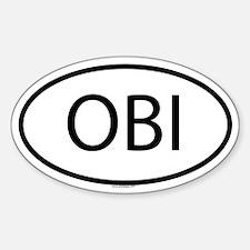 OBI Oval Decal