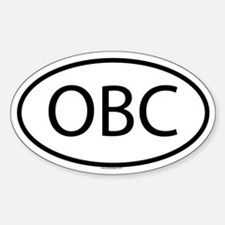 OBC Oval Decal