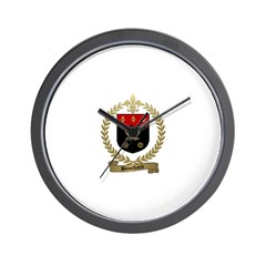 BOUCHARD Family Crest Wall Clock