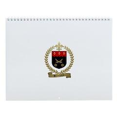BOUCHARD Family Crest Wall Calendar
