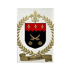 BOUCHARD Family Crest Rectangle Magnet