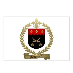 BOUCHARD Family Crest Postcards (Package of 8)