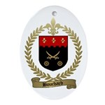 BOUCHARD Family Crest Oval Ornament
