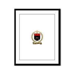 BOUCHARD Family Crest Framed Panel Print