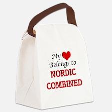 My heart belongs to Nordic Combin Canvas Lunch Bag