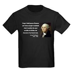 George Washington 16 Kids Dark T-Shirt