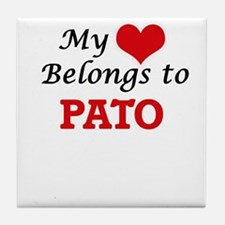 My heart belongs to Pato Tile Coaster