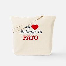 My heart belongs to Pato Tote Bag