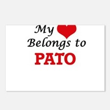 My heart belongs to Pato Postcards (Package of 8)