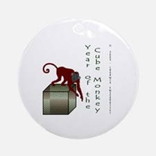 Year of the Cube Monkey Ornament (Round)