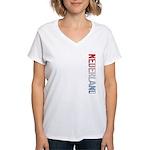 Nederland Stamp Women's V-Neck T-Shirt