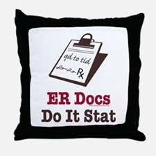 Funny Doctor ER Doc Throw Pillow
