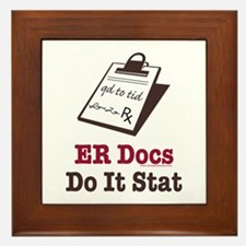 Funny Doctor ER Doc Framed Tile