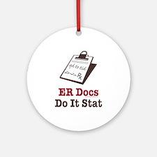 Funny Doctor ER Doc Ornament (Round)