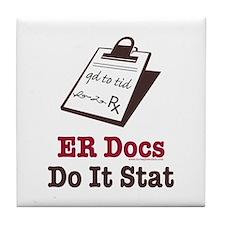 Funny Doctor ER Doc Tile Coaster
